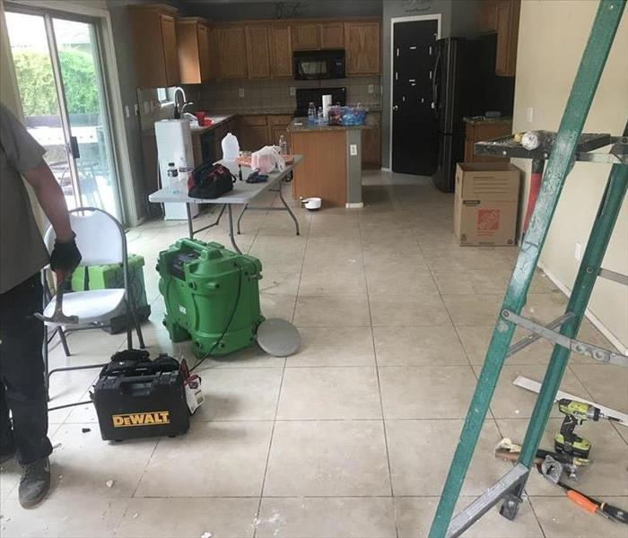 Kitchen Restoration from Water Damage Job in San Tan Valley AZ Before
