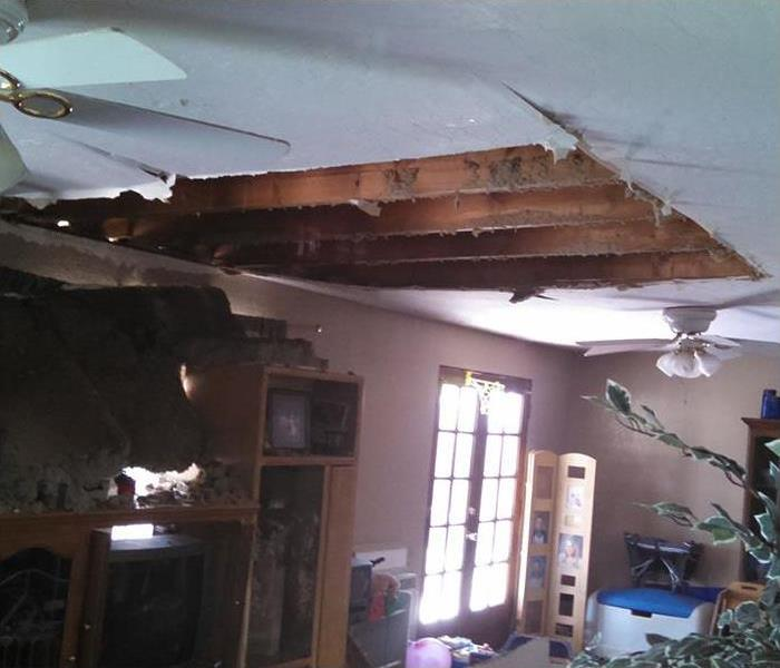 Storm Water Damage caved in Chandler AZ Home Ceiling