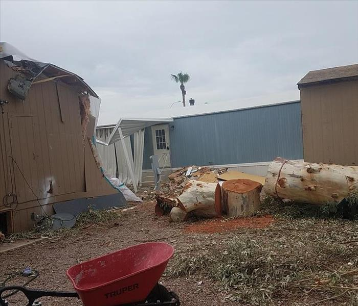 Storm Damage Monsoon Microburst Damage Cleanup in Mesa AZ