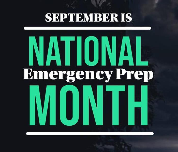 National Emergency Prep Month Picture with storm in background